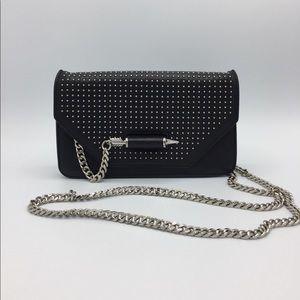 Mackage Zoey Stud Leather Clutch Crossbody Bag